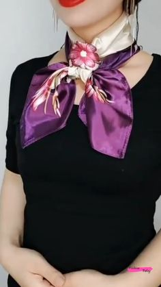 Ways To Tie Scarves, Ways To Wear A Scarf, How To Wear Scarves, Fashion Sewing, Diy Fashion, Fashion Outfits, Fashion Tips, Scarf Wearing Styles, Scarf Styles