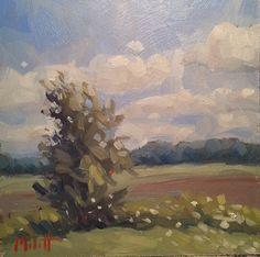 Heidi Malott Original Paintings: Hello August Summer Landscape Original Oil Impress...