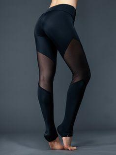 Bottoms - Onzie Track Legging - Black Mesh