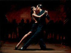 Fabian Perez 1967 ~ pintor argentino figurativo   Bailarines de Flamenco