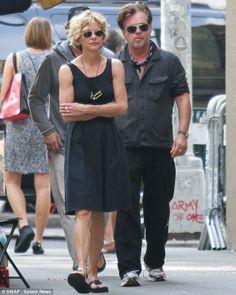 Meg Ryan was spotted shopping with her boyfriend John Mellencamp in Manhattan, New York City yesterday