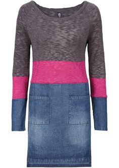 Pletené šaty z rozdílných materiálů S • 699.0 Kč • bonprix