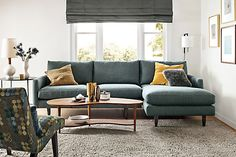 Mid-century styling meets modern comfort in the Jasper sectional. Narrow arms make the most of the seating space, while tapered legs give Jasper a light profile. Plush, blend-down cushions envelop you and the smaller-scale frame won't overwhelm your space. Individual pieces available by special order.