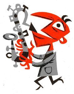 Jim Flora :: Merchandise :: Jim Flora Framed Letterpress Prints