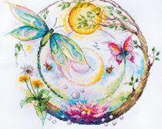 Bead embroidery cross stitch kits ribbons by needlepointkit