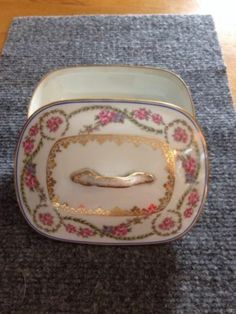 CH Field Haviland GDA FRANCE Limoges Soup Dish Cover & Insert France Pink Roses