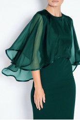 Midi crepe dress with veil Subtle luxury details. Contemporary and elegant dress. Anna Dress, Crepe Dress, Veil, Party Dress, Dresses With Sleeves, Contemporary, Elegant, Luxury, Long Sleeve