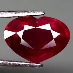 4.53CT.DAZZLING! HEART FACET TOP BLOOD RED NATURAL RUBY MADAGASCAR #GEMNATURAL