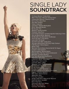 45 Fierce Songs For Single Ladies Everywhere. This is wonderful.