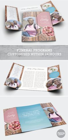 Jasmine funeral program template. Have this customized by a professional Graphic Designer for only $99.90. Designed by Memory Press, available at memorypress.co