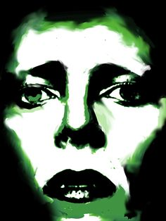 Bowie Green by Enki Art Angela Bowie, Alexandria, David Bowie Art, Kiss Art, Poster S, The Shining, Rock Bands, Car Park, Silhouettes
