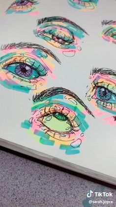 Drawing colorful eyes
