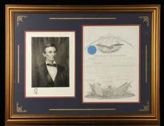 DISCHARGE PAPERS, WITH ABRAHAM LINCOLN SIGNATURE Annual Thanksgiving Auction Day Two | Official Kaminski Auctions