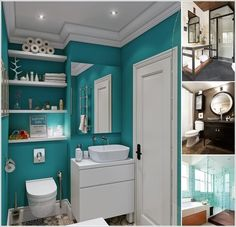 15 Color Schemes That Work Well in a Small Bathroom