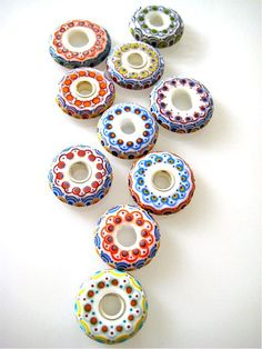 These are so beautiful! UNIKAL Glasperlendesign: contact- disc russia style