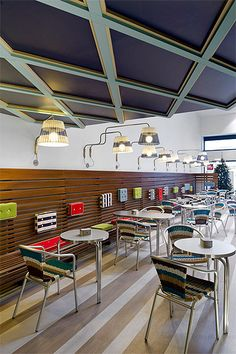 ice-cream-store-design-finishes  ceiling design and seating