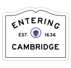 'Entering North Andover Massachusetts - Commonwealth of Massachusetts Road Sign ' Sticker by NewNomads