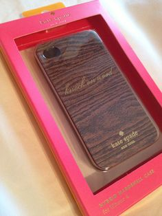 Kate Spade Knock on Wood phone case...just in case!