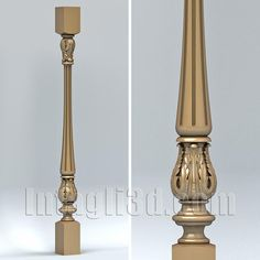 3D model for CNC routers and 3D printers (art. Baluster 004)