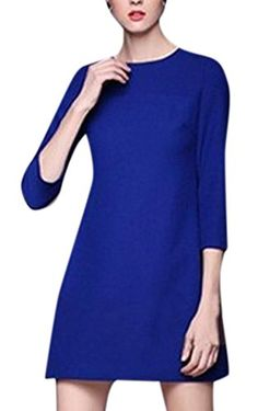 Lingswallow Womens Elegent Sleeve Casual A-Line Shift Party Dress Line, Party Dress, Cold Shoulder Dress, Casual, Sleeves, Stuff To Buy, Dresses, Women, Fashion