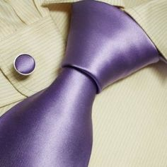 Purple solid designer mens ties boyfriend gift fashion silk neck tie cufflinks set A1066