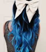 Ombre black to bright blue <3 I'm getting this after school ends and before summer starts!!