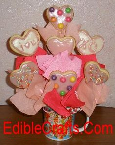 Valentines gift ideas - DIY Candy & Cookie bouquet