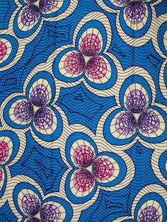 Super Wax Print African Textile 6 Yards 100 by Africanpremier, $29.99