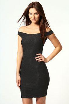 Lace cut off dress