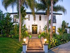 Designer Christian Audigier Selling Los Angeles Home – Rolls-Royce Included Spanish Style Homes, Spanish Revival, Spanish House, Spanish Colonial, British Colonial, Christian Audigier, Hacienda Style, Tropical Landscaping, Landscaping Plants