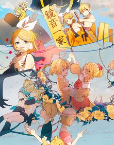 Kaito, Hatsune Miku, Gakupo Kamui, Mikuo, Rin E Len, Kagamine Rin And Len, Vocaloid Characters, Miku Cosplay, Evil Anime