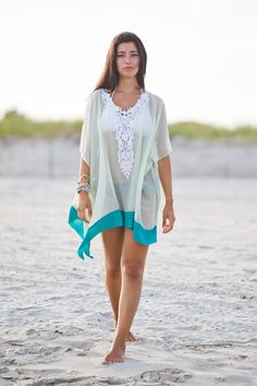Beach cover up kaftan  honeymoon beach by solemareny, $37.00