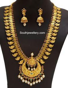 Antique Gold Lakshmi Mango Mala Set