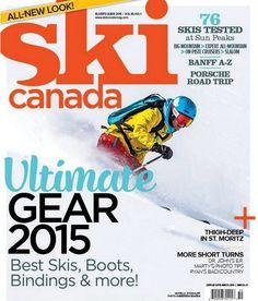 Ski Canada - cover redesign magazine