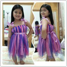 my little pony inspired tutu dress for my daughter's birthday... no sew tutu dress...