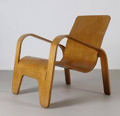 Han Pieck; Plywood Lounge Chair for Lawo, 1946.