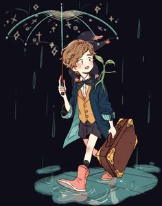 Newt Scamander /Fantastic Beasts and where to find them. Mundo Harry Potter, Harry Potter Anime, Harry Potter Fan Art, Harry Potter Universal, Harry Potter Fandom, Harry Potter World, Scorpius And Rose, Desenhos Harry Potter, Fantastic Beasts And Where