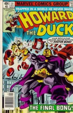 Marvel Comics Group - Howard thr Duck 31 Marvel comics Approved By The Comics Code - Trapped In A World He Never Made - Doctor Bong - Robot - Gene Colan