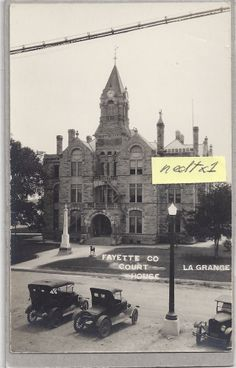 TX LaGRANGE 1891 FAYETTE COUNTY COURT HOUSE TEXAS CH TEX RPPC 1930