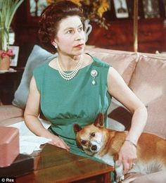 The Queen and a Corgi
