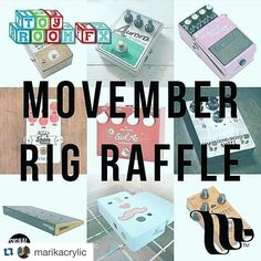 #Repost @marikacrylic with @repostapp.  Time is running out! Donate to be a part of @toyroomtim's movember fundraising and go in with a chance to win some incredible prizes! Thanks to @macron_music @candccases @signalchainmusic @bondieffects @mojostompboxes @smallsoundbigsound @raygunfx @spencerpedals  #pedalboard #guitarpedals #pedals #guitarist #gearwire #geartalk #cleantone #gottone #stompbox #guitareffects #toyroomeffects #custom #movember