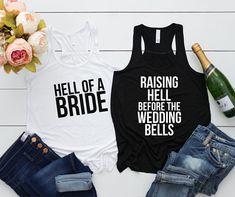 Bachelorette party Bach bash Bridesmaid shirt Bridal party Bridal Party Shirts, Wedding Shirts, Wedding Reception, Lace Wedding, Wedding Ideas, Bridesmaid Shirts, Bridesmaids, Pregnant Wedding, Bachelorette Shirts