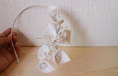 Felt flower headband Bridal Hair Accessories Wedding by nchorshop, $54.00