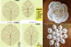 Best 11 Free Crochet Pattern with tutorial This project belongs to very easy, slowly step by step with written instructions you will crochet your own cozy rose. Crochet Bouquet, Crochet Puff Flower, Crochet Brooch, Crochet Flower Tutorial, Knitted Flowers, Crochet Flower Patterns, Fabric Flowers, Crochet Apple, Irish Crochet