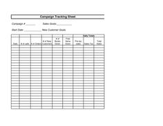 AVON - Campaign Tracking Sheet
