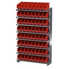 Akro-Mils APRS040 RED Single Sided Pick Rack with 64 30040 Red Shelf Max Bins by Akro-Mils. $478.20. From the Manufacturer                APRS 040R Single Sided Pick Rack with angled shelves keep parts and supplies at the front of bins for easy access. Akro-Mils products save time and money by helping to increase material handling efficiency in virtually any industry. Our broad range of storage, organization and transport products are used to shorten assembly times, maintain acc...
