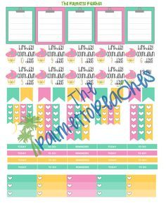 Free July Planner Stickers Printable - The Palmetto Peaches - palmsinatl.com