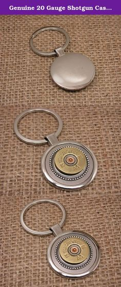 """Genuine 20 Gauge Shotgun Casing Round Stainless Key Ring / Key Chain. Stylish gift for a guy that is smart, masculine, collectible and useful - all in one! Quality round stainless key chain with 20 gauge shotgun casing mounted in our signature beaded bezel. Bezel adds character and dimension and draws focus to the shotgun casing. The round portion of the key ring base is approximately 1 1/2"""" in diameter or 36mm across and is the perfect base for shotgun casings. These key chains can be…"""