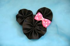 Pinza de pelo de ratón oreja lazo cinta por CelticTideCreations