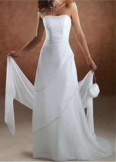 CHARMING CHIFFON STRAPLESS TIERED WEDDING DRESS LACE BRIDESMAID PARTY BALL COCKTAIL EVENING GOWN IVORY WHITE PROM